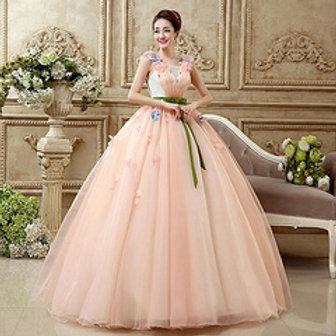 Wedding Dresses  Evening Sequare Neck ALY013