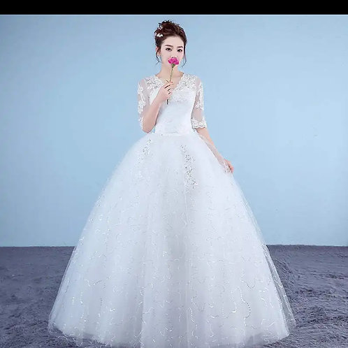 Christian & Catholics Wedding Bridal Ball Gown MDO06 With Sleeves