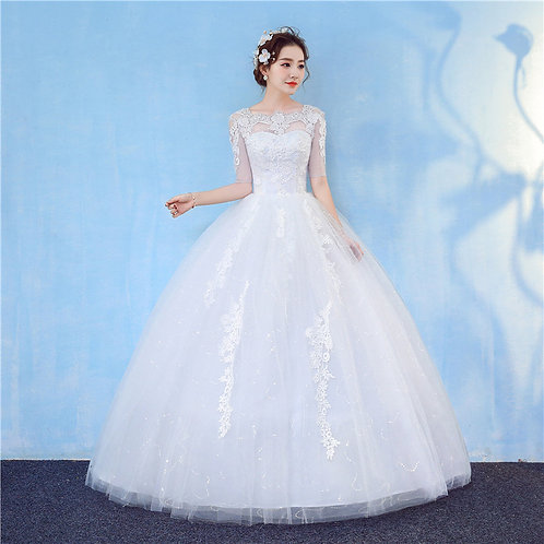 Christian & Catholics Wedding Bridal Ball Gown GZ807 With Sleeves