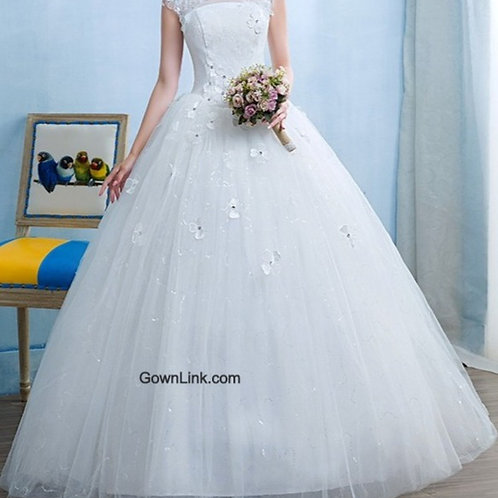 Christian & Catholics Wedding Bridal Ball Gown GLTD15 With Sleeves