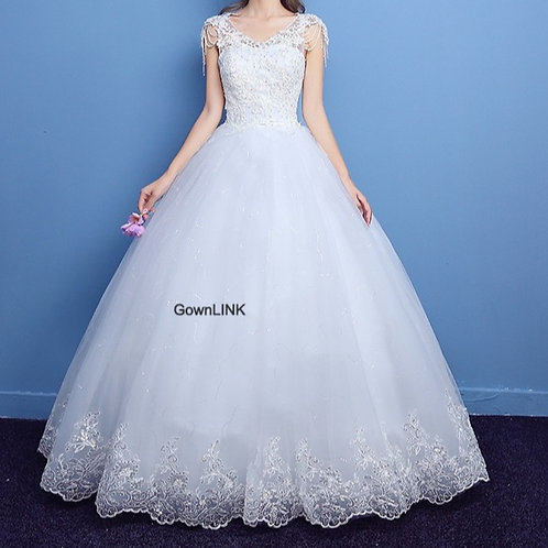 Christian & Catholics Wedding Bridal Ball Gown GLLQD10 With Sleeves