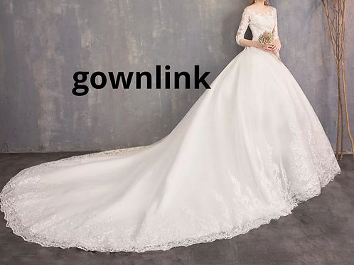 Christian Wedding Gowns Catholics White Train Gown GLD30T Train GownLink India