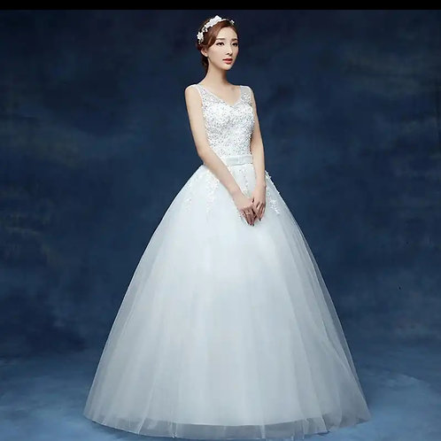 Christian & Catholics Wedding Bridal Ball Gown T1614 With Sleeves