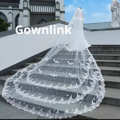 Christian Wedding Catholics wedding white long 2 Layer veil GLJVA06654 India