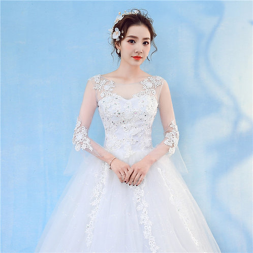 Christian & Catholics Wedding Bridal Ball Gown GZ802 With Sleeves
