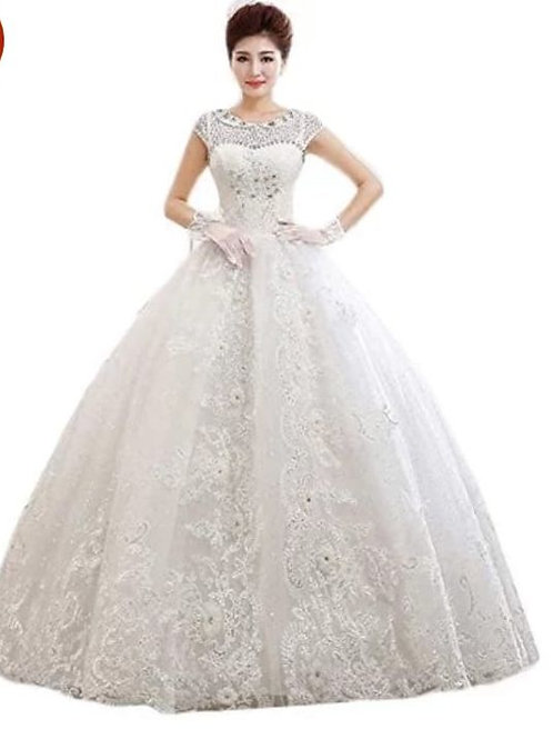 Christian & Catholics Wedding Bridal Ball Gown HS410 With Sleeves