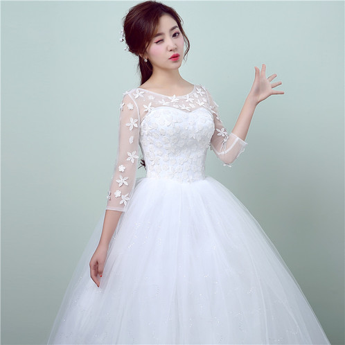 Wedding Gown Ball Sleeves Dress Christian Special Occasion Gown ...