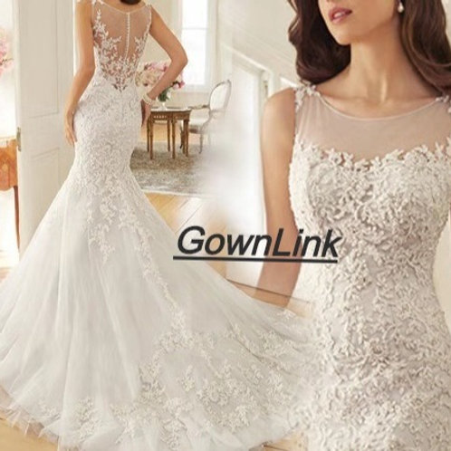 Gownlink Christian Bridal Catholics Bridal Mermaid Train Gown GLD290 India