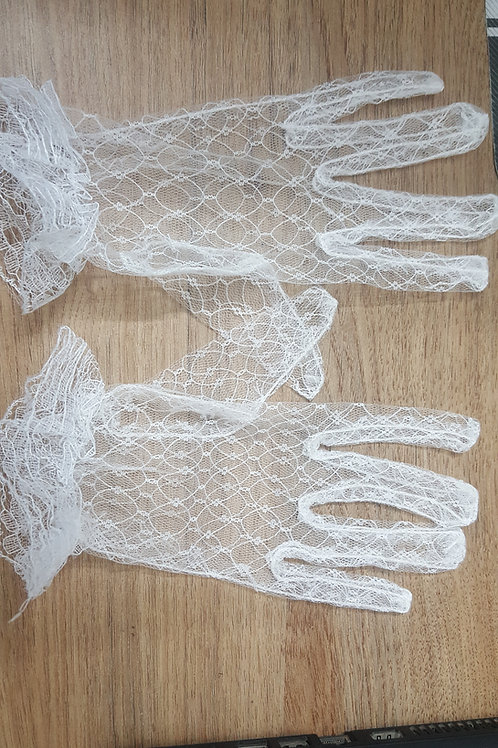 Christian Wedding Bridal Gloves With fingers Net INDIA