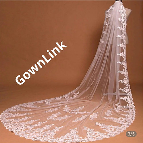 Christian Bridal Long Veil With Comb 2 Layers GLHL56  India