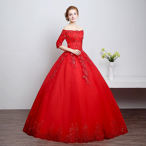 Christian Sleeves Gown Wedding Ball Dress Gown HS633W