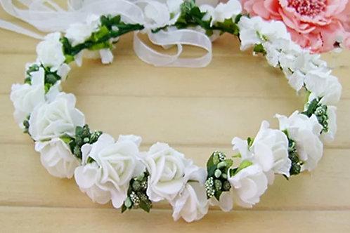 Christian Catholic Bridal Wreath Floral Crown Tiara