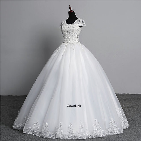 Christian Catholics Wedding Bridal Ball Gown GLKD03 With Sleeves