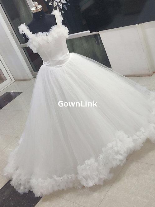 Christian Wedding Gowns Catholics Wedding White Dress PremiumGL00999With Sleeves