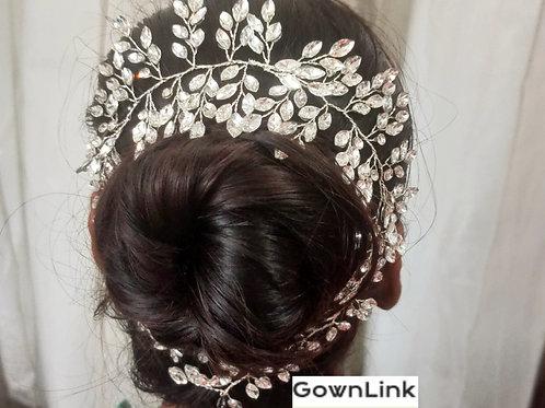Wedding Crown Silver wreath For Bridal Hair Accessories India