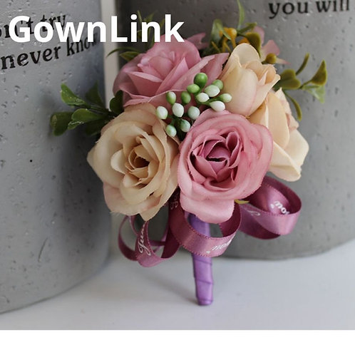Gownlink Boutonniere Buttonholes Christian Wedding Bridal Coat Flower India