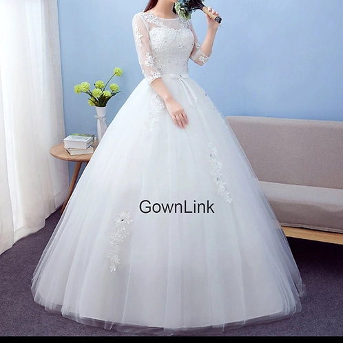 Christian & Catholics Wedding Bridal Ball Gown GLC1702 With Sleeves