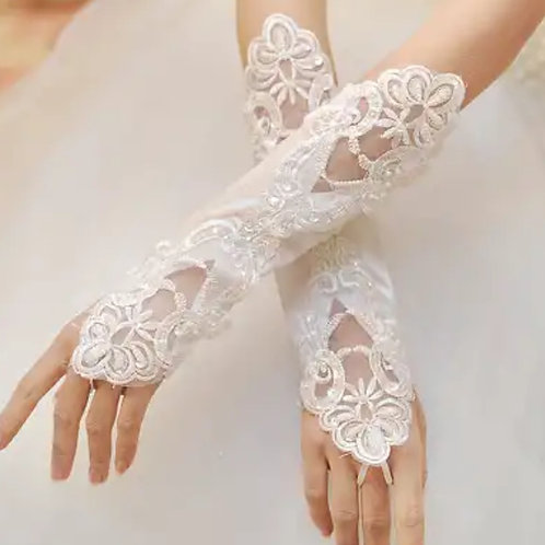 Christian wedding Bridal Long Gloves  G06 W INDIA