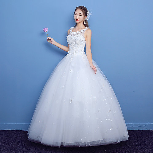 Christian Wedding Gowns Catholic gowns Floral KQD08