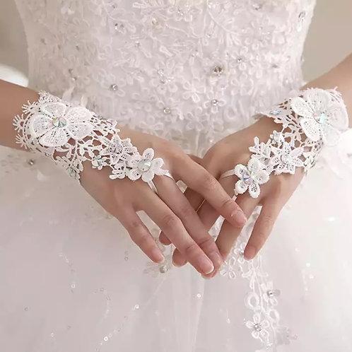 Christian Wedding Bride's Gloves Pure White GLG09