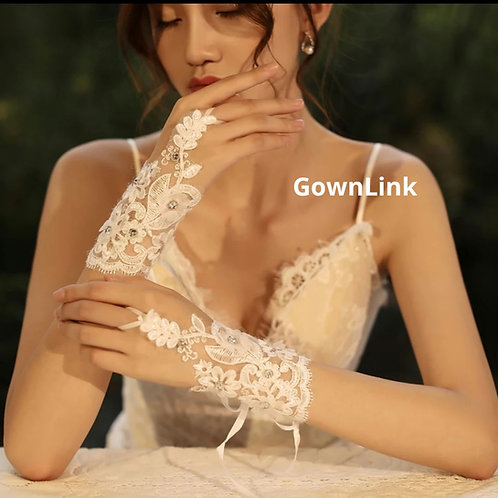 Christian Wedding Bridal Gloves  [19] GownLink India