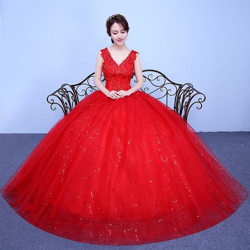 Red Ball Gown Wedding Dresses Cheap