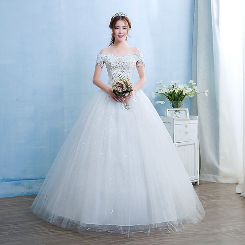 Wedding Gown Ball Dress Christian Wedding Special Occasion Gown TD09
