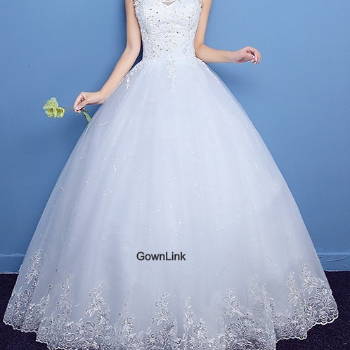 Christian & Catholics Wedding Bridal Ball Gown LQD13 With Sleeves India