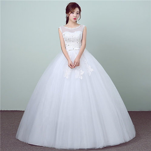 Christian & Catholics Wedding Bridal Ball Gown GZ1763 With Sleeves