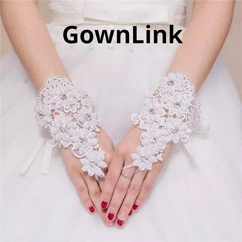 Christian Wedding Catholic Bridal White Wedding Gloves  India