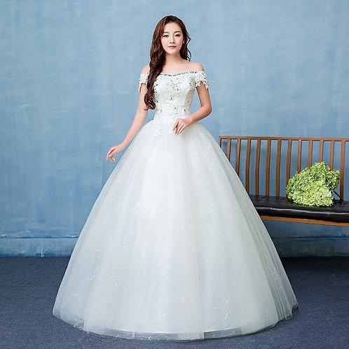 White Wedding Ball Gown