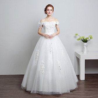 Wedding Gown Ball Dress Christian Wedding Special Occasion Gown HS631