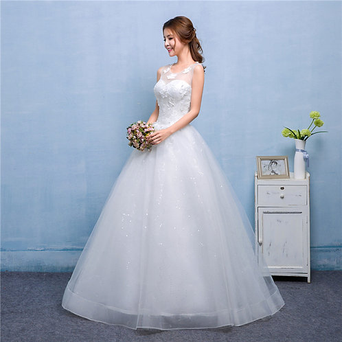 Wedding Gown Ball Dress Christian Wedding Special Occasion Gown QH602