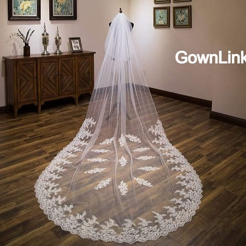 Gownlink  Christian Bridal Long Veils 2 with front Layer GLVHM-5