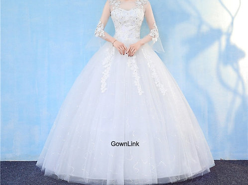 Christian & Catholics Wedding Bridal Ball Gown GZ806 With Sleeves