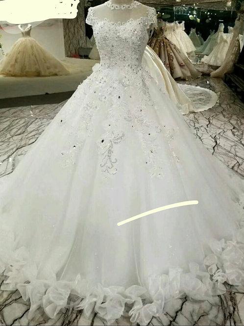 White Premium Christian wedding gown