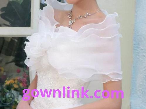 White wedding Cape Shrug