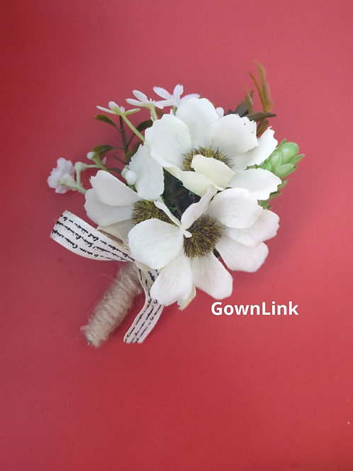 Gownlink Boutonniere Buttonholes Wedding Groom Coat Flower  (4*3 Inch )  India