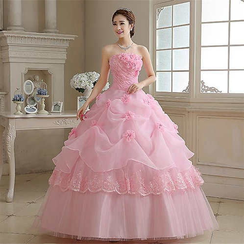 Designer Wedding Dresses Tube Neck Evening Party Gown H12P-2