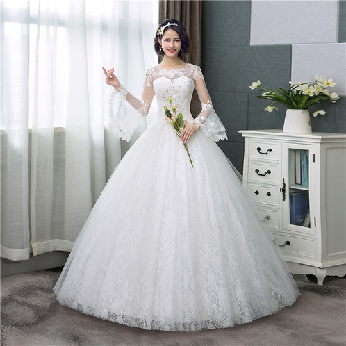 e035c999889 Christian   Catholics Wedding Bridal Ball Gown HSD185C With Sleeves
