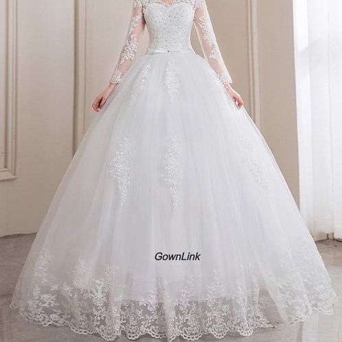 Gownlink Christian and Catholic Bridal Wedding Dress GLHSD14 India