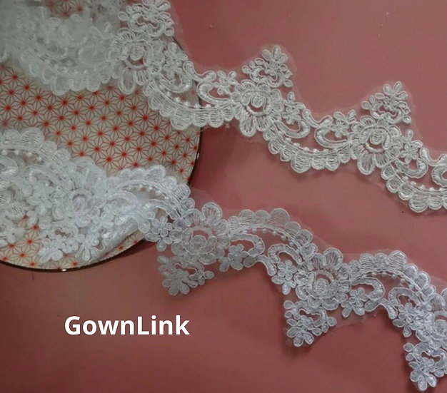 High quality Lace for Wedding Dress Sleeves and Bridal Veil
