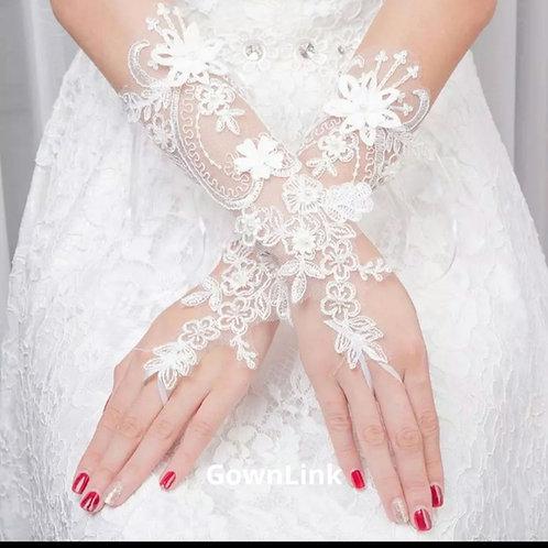 Christian Wedding Catholic Bridal Fingerless White [3] Gloves