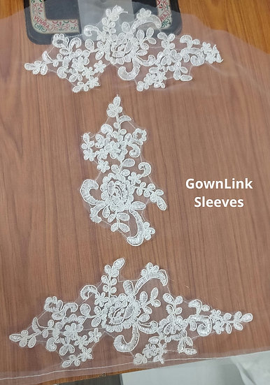 GownLink Lace Patch Sleeves Fabric For Wedding Dress