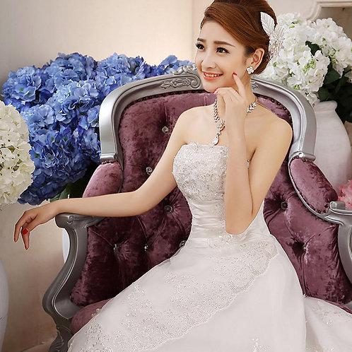 Beautiful White Wedding Occasion Tube Neck Dress MD14-T
