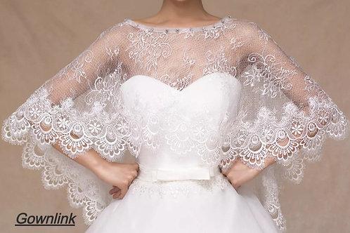 Bridal jacket wedding shawl cape top1  India