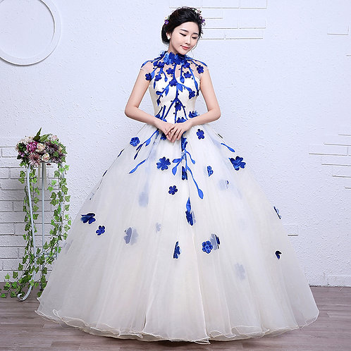 New Wedding Party Photoshoot Party Dress High Neck RR2087-1,2,3