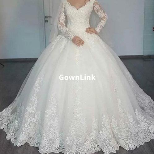Gownlink Christian and Catholic Bridal Wedding Ball Dress GLWDH30 India