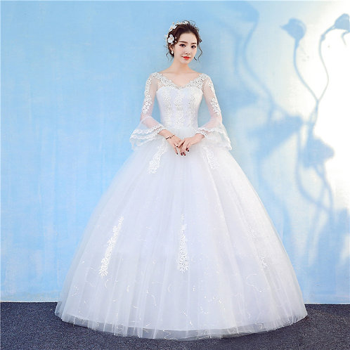 Christian & Catholics Wedding Bridal Ball Gown GZ804 With Sleeves