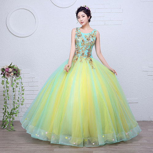 Yellow Ball Wedding Gown Engagement Gown Photoshoot Dress Partywear gown